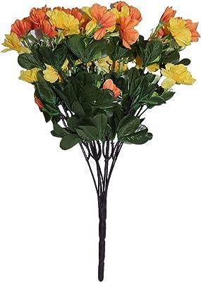 Fourwalls Artificial Azily Flower Bunches (Orange, 1 Piece)