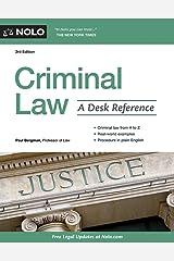 Criminal Law: A Desk Reference Paperback
