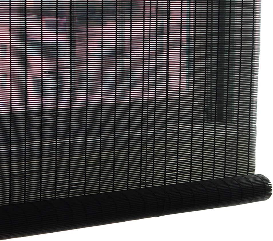 WEB限定 Roller Blinds 公式ショップ Black Bamboo Blind Sunshade 70% Up Cu Roll