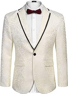 Men's Rose Floral Suit Jacket Blazer Weddings Prom Party Dinner Tuxedo