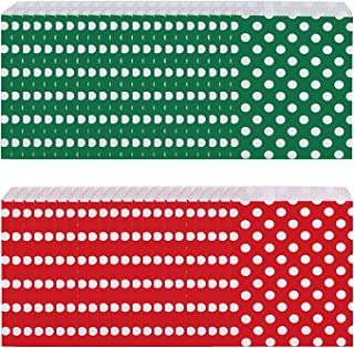 100 pieces Christmas Treat Bags Candy Buffet Paper Bags Xmas Holiday Party Favor Goody Bags Gift Bags Candy Bags