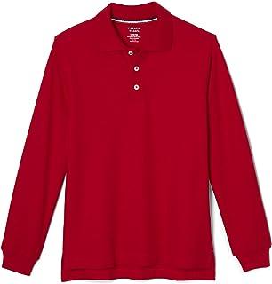 Boys' Long-Sleeve Pique Polo Shirt