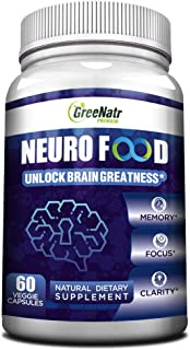 Brain Supplement to Enhance Memory, Energy, Focus and Clarity For Men& Women. Best Natural Alternative of Nootropics with ...
