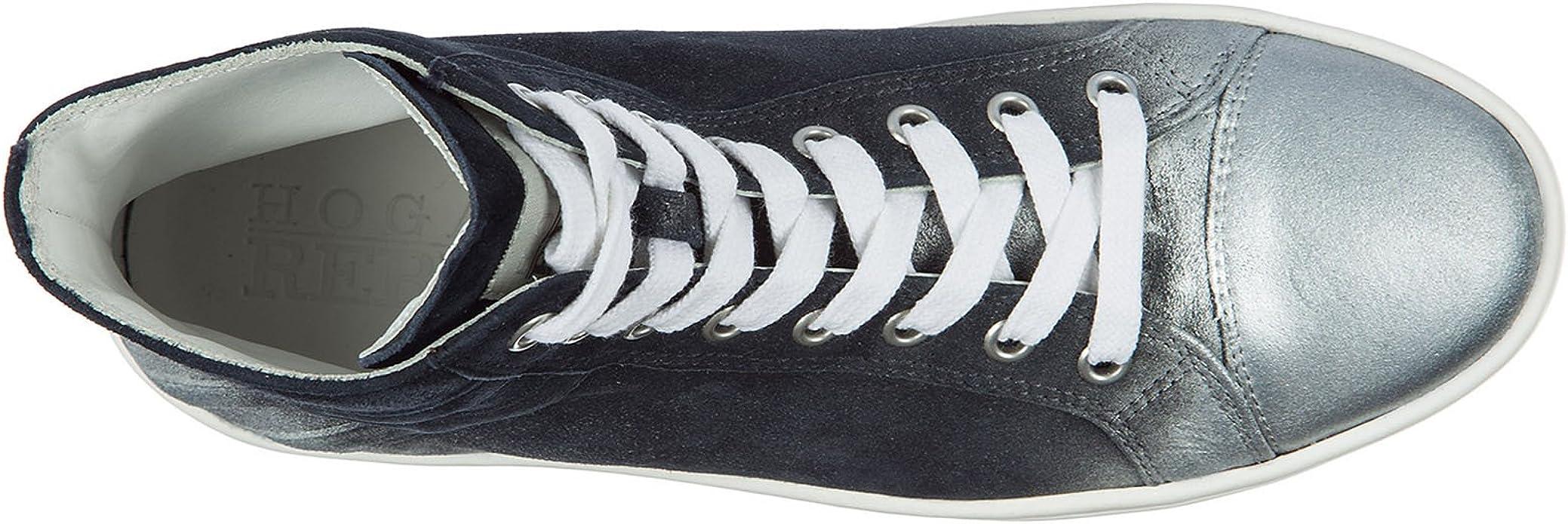 Hogan Rebel Sneakers Alte r141 Donna Blu 35 EU : Amazon.it: Moda