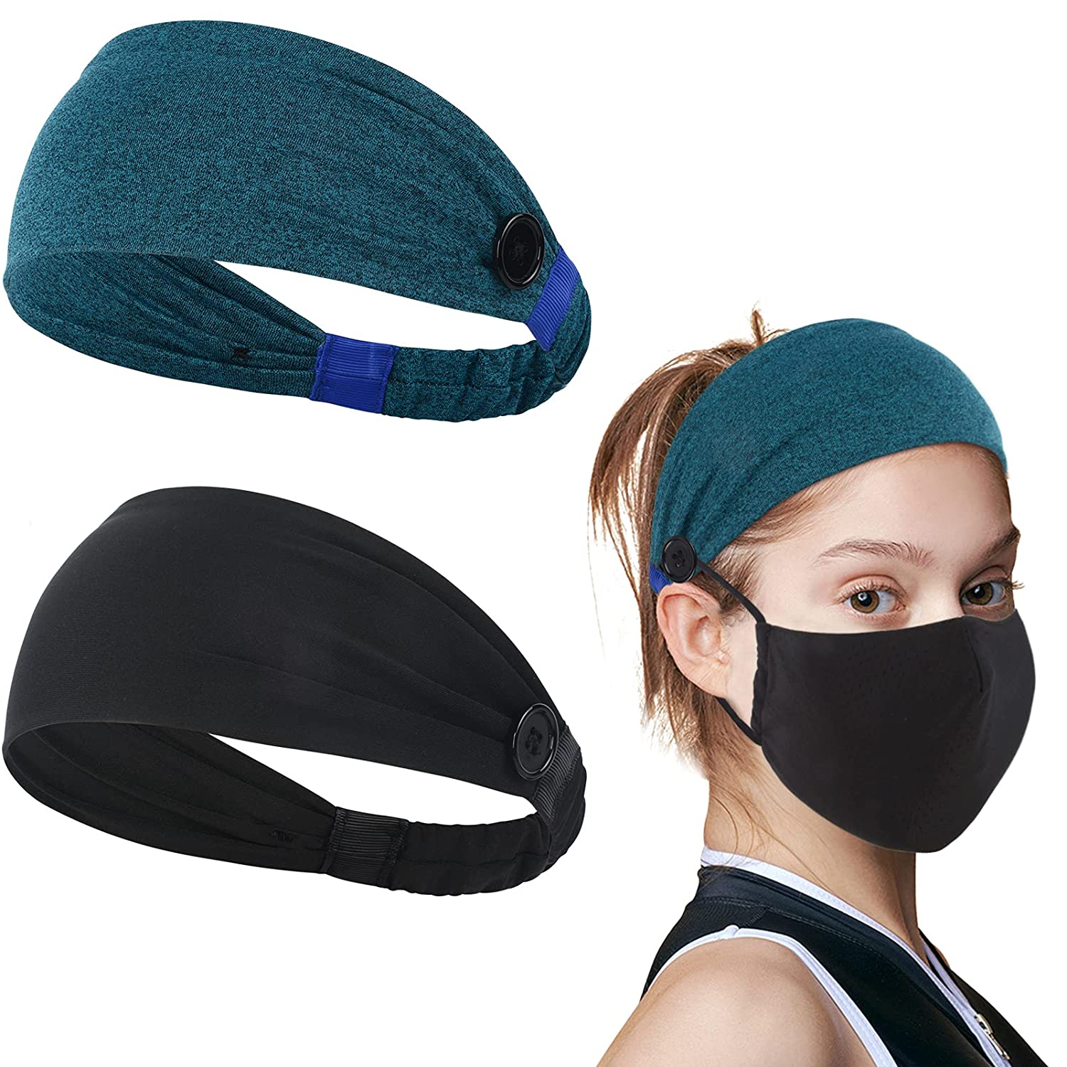 KinHwa Headband with Buttons for M-a Ear Face Max 69% OFF Protection Regular dealer M-a-s-k