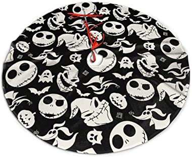 LEAH REED customgogo The Nightmare Before Christmas Jack & Sally Christmas Tree Skirt, Soft, Easy to Put, Light and Good to T