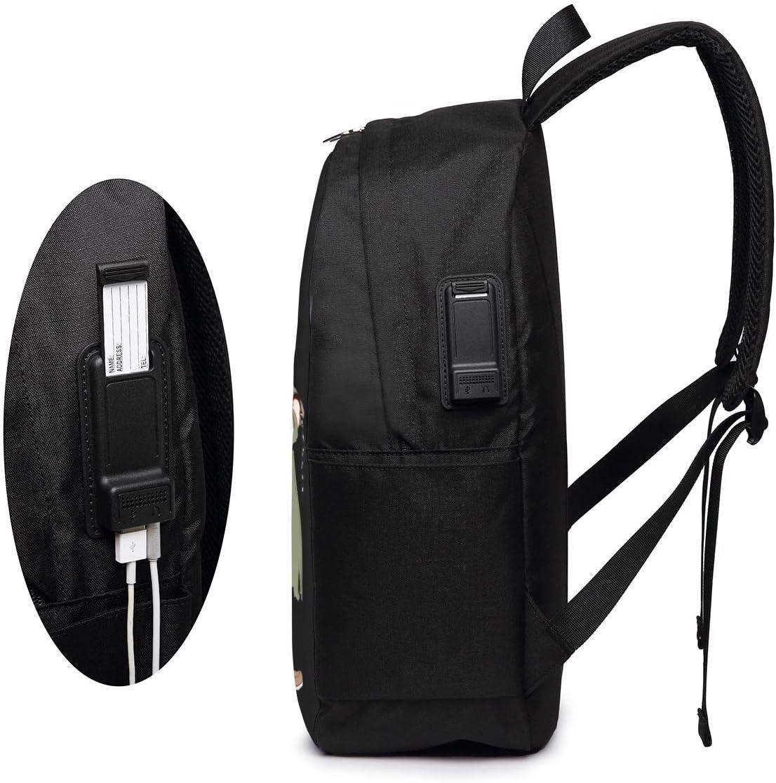 My Hero Academia Halloween 3D Animation USB Backpack School Bag School Bookbag Travel Bag Computer Bag
