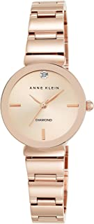 Anne Klein Women's Diamond Dial Rose Goldtone Polished...