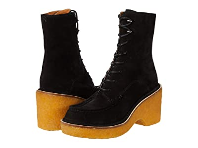 rag & bone Scout Wedge (Black Suede) Women