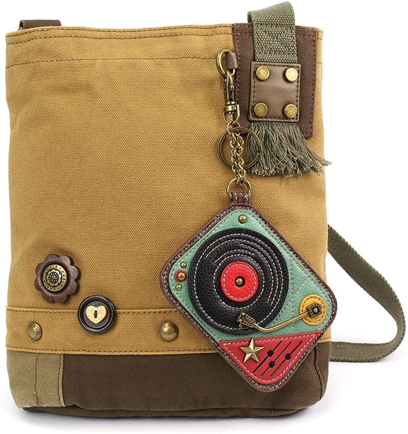 Chala Canvas Crossbody Messenger handbags with Keyfob Coin Purse  (Turntable)