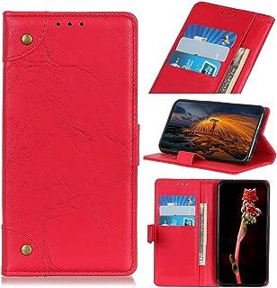 حالات LG For LG K41S/K51S Copper Buckle Retro Crazy Horse Texture Horizontal Flip Leather Case with Holder & Card Slots & ...