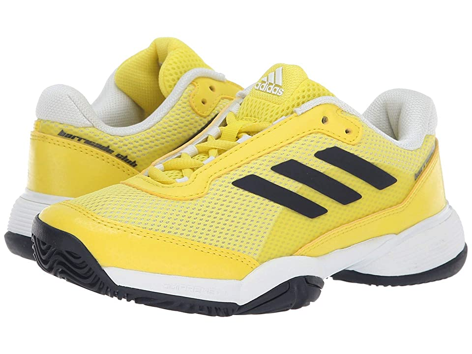 adidas Kids Barricade Club xJ Tennis (Little Kid/Big Kid) (Shock Yellow/Legend Ink/White) Kids Shoes
