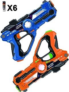 Laser Tag-Laser X Recoil Laser Tag Lasers Gun Toy Gun Set 2-Player Space Blaster Toys for Boy Gift Laser Tag Sets with Gun Games