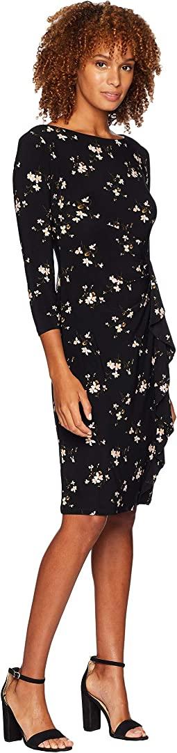 Flutter Floral Amadora 3/4 Sleeve Day Dress