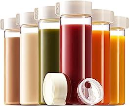 Komax Juice Bottles 18.5-oz | Set-of-6 Reusable Juice & Smoothie Bottles | Premium BPA-Free Plastic, Shatterproof, Leakpro...