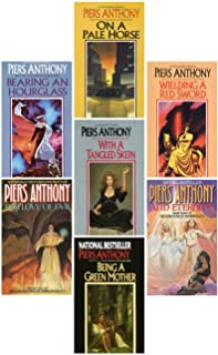 Incarnations of Immortality Set (Books 1-7) 1983-1990; On a Pale Horse, Bearing an Hourglass, With a Tangled Skein, Weildi...