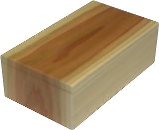 天然杉無垢板一枚五面つづき木目弁当箱 木製 L アイボリー系&ブラウン系ミックスLサイズ 外寸法約 長さ 202X巾118X高さ69 容積約 1000cc
