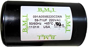 59-71 MFD (uF) 220VAC 1/2 and 3/4 HP Well Pump Control Box Motor Start Capacitor 275464105 for Franklin 2801054915, CRC 2824075015 . New