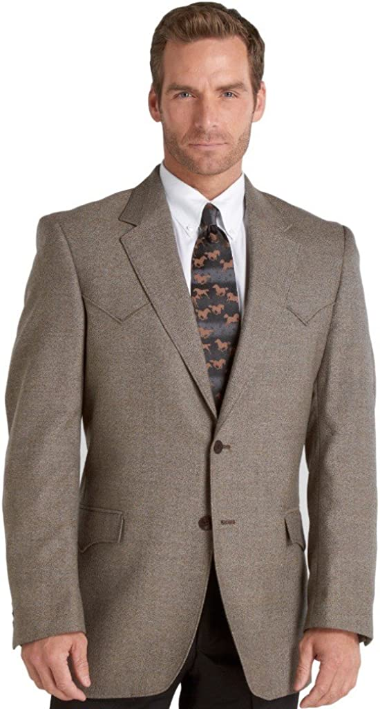 Circle S Mens Brown Plano Sportcoat