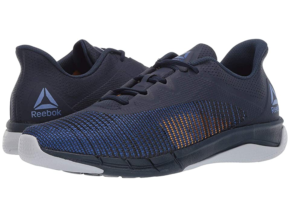 85f93db68 Reebok Fast Tempo Flexweave (Collegiate Navy Crushed Cobalt Cold Grey Solar  Gold) Men s Shoes