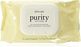 philosophy purity made simple one-step facial cleansing cloths, 30 count