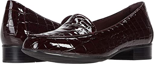 Burgundy Synthetic Croco Print