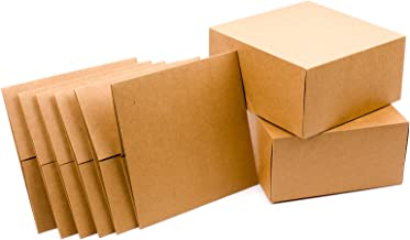 """Hallmark 8"""" Gift Boxes (Pack of 5; Square Kraft) for Holidays, Birthdays, Crafts and More"""