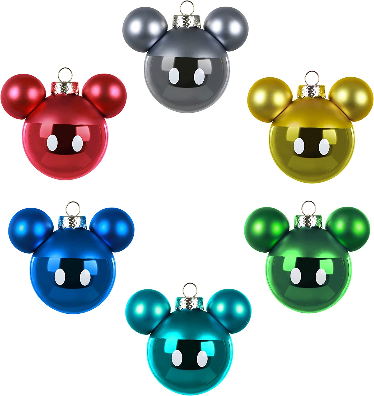 Amazon.com Hallmark Keepsake Glass Christmas Ornaments, Disney ...