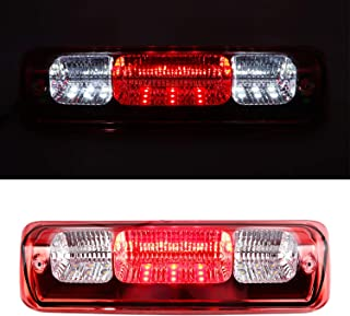 Youxmoto High Mount Stop Tail Cargo Light, Rear Roof Center LED 3rd Brake Cargo Light Assembly for 04-08 Ford F-150,07-10 Ford Explorer Sport Trac,06-08 Lincoln Mark LT(Chrome Housing Red Lens)