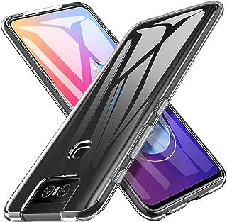 Asus Zenfone 6 Case, KuGi Asus Zenfone 6 / 6Z ZS630KL Case, Ultra Slim Clear Hybrid Soft Rubber TPU Case Cover for Asus Zenfone 6 / Zenfone 6Z ZS630KL Phone(Crystal Clear)