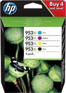 HP 953XL ComboPack 3HZ52AE, Confezione da 4 Cartucce Originali di Inchiostro, Compatibili con Stampanti HP OfficeJet Pro S...