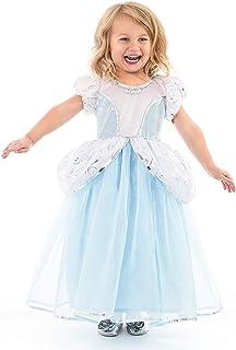 Little Adventures Cenicienta Deluxe Dress Up Vestido para Niñas - Mediano (3-5 Años).