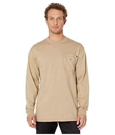 Carhartt Flame-Resistant (FR) Force Cotton Long Sleeve T-Shirt (Khaki) Men