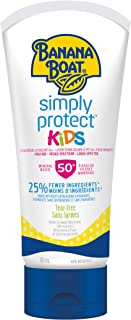 Banana Boat Simply Protect Kids Mineral Sunscreen Lotion, Reef Friendly, SPF 50+, 180 mL