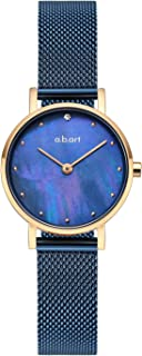 abart FQ26 Lady Series Analog Sapphire Crystal Dial Mesh Band Wrist Watches for Women
