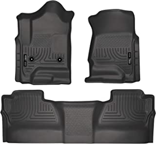 Husky Liners 98231 Black Weatherbeater Front & 2nd Seat Floor Liners (Footwell Coverage) Fits 2014-18 1500, 2015-19 Chevrolet Silverado/GMC Sierra 2500/3500 Crew Cab