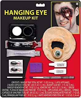 Hallo Makeup Special Effects Makeup for Halloween Costumes and Parties; Hanging Eyeball Makeup Kit