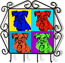 Schnauzer, Clothes Hanger with an Image of a Dog, Andy Warhol Style