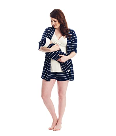 Everly Grey Adaline Maternity/Nursing Mommy Me Five-Piece PJ Set (Navy) Women