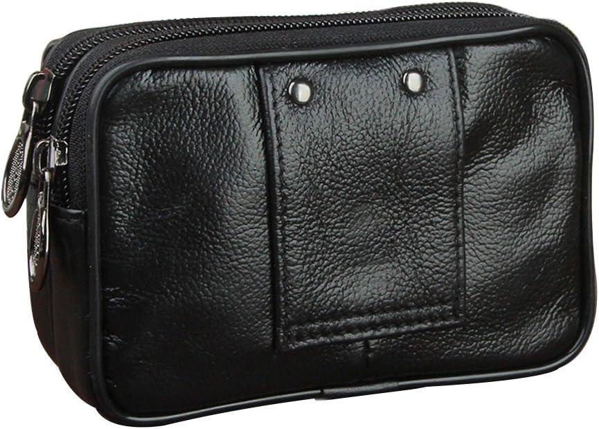 Noir Genda 2Archer Petite Pochette argent ceinture sac en cuir voyage s/écurit/é accessoire transporter
