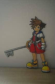 Sprite Sora from Kingdom Hearts perler beads pixel art
