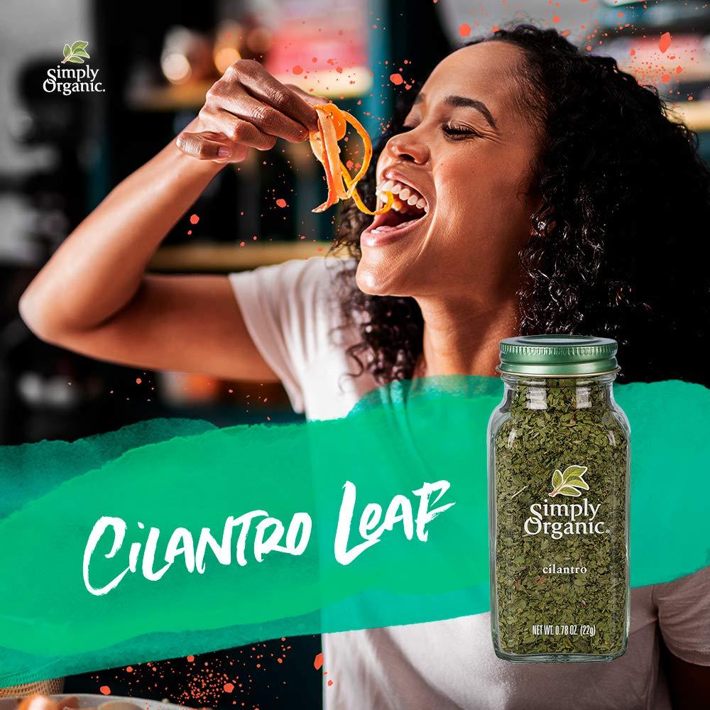Simply Organic Cilantro Leaf, Cut & Sifted, Certified Organic   0.78 oz   Pack of 6   Coriandrum sativum L.