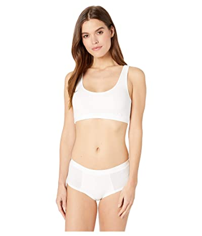 Cosabella Soft Cotton Cami Bralette and Hotpants Set (White) Women