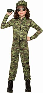 Army Girl with Hat Costume for Kids