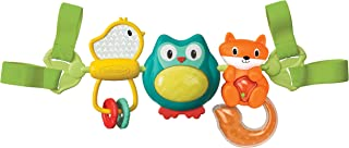Infantino Spin & Sing Travel Bar Activity Toy |Stroller & High Chair Toys|Baby soft Plush Toys|