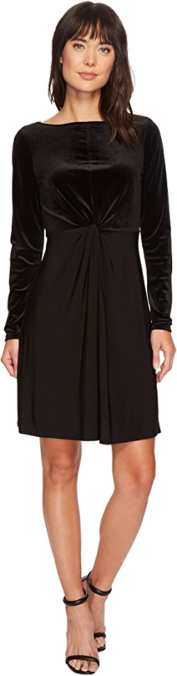 MICHAEL Michael Kors - Velvet Matte Jersey Mix Twist Dress