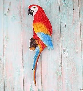 Wooden Parrot Statue
