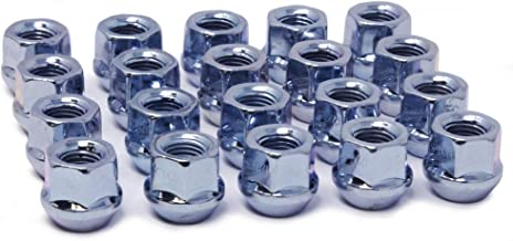 WheelGuard 1107, Zinc Finish, Open-end Acorn Bulge Lug Nut, M12x1.5 Thread, 3/4 Hex (Pack of 20)