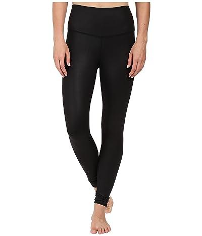 ALO High Waist Airbrushed Leggings (Black Glossy) Women