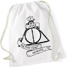 LOGOSHIRT Borse riutilizzabili per la spesa Preferirei essere a Hogwarts design originale concesso su licenza Harry Potter